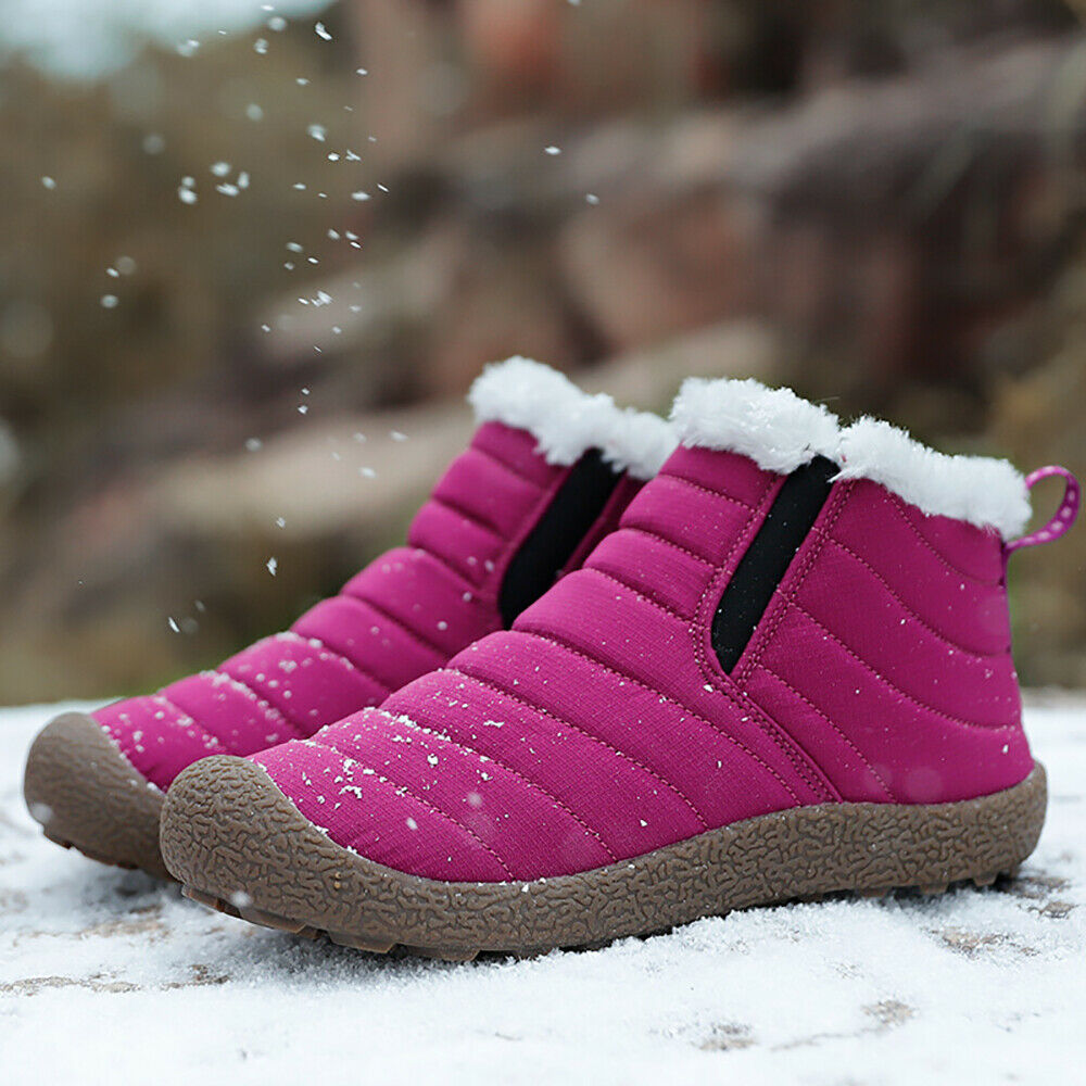Waterproof Warm Snow Slip On Outdoor Ankle bottes