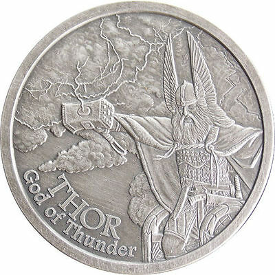 Valkyrie 1 oz .999 Silver Proof Norse God Coin Series Odin mirror finish coin