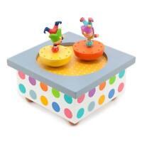 Trousselier Acrobats Spinning Mechanical Music Box Children's Toy Christening