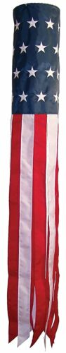 """60/"""" USA WindSock Embroidered American Flag Wind Sock FAST SHIP by FanzofSportz"""