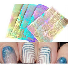 3D Design Manicure Tips Decal Decorations 3 Sheet Nail Art Transfer Stickers