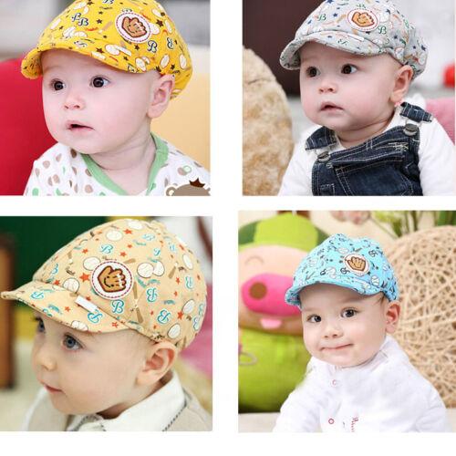 New Arrival Baby Kids Cotton Baseball Boys Girl Toddler Peaked Visor Beret Cap