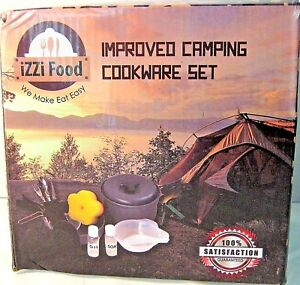 iZZI-Food-Camping-Cookware-Set-w-Bag-Utensils-amp-Extras-New-Free-Shipping