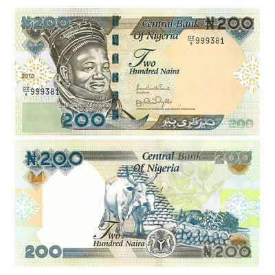 Nigeria Banknote 200 Naira 2010 UNC