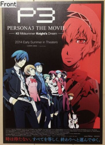 2 Midsummer Knight/'s Dream  Promotional Poster Type B Persona 3 The Movie No