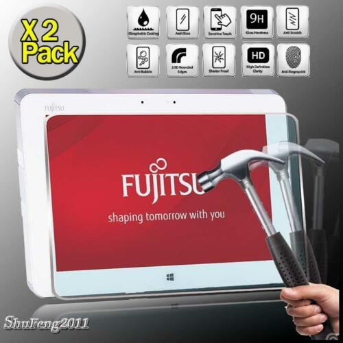 2 Pack Tempered Glass Screen Protector For FUJITSU Stylistic Q584 Tablet