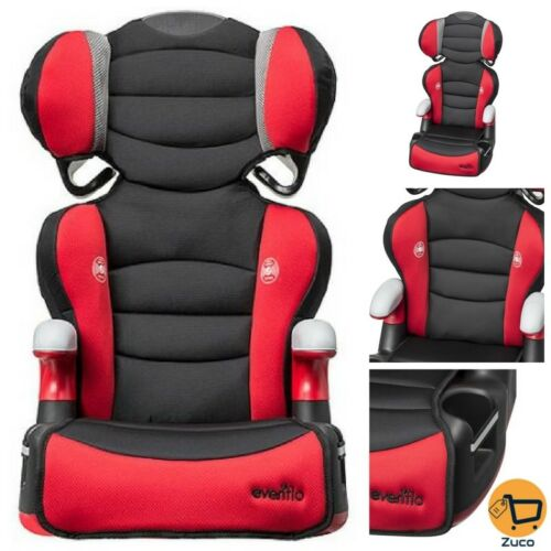 Big Kid High Back Booster Safety Car Seat Racing Design For Boy Girl Toddler Red