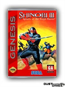 Shinobi-III-Return-of-the-Ninja-Master-GEN-Genesis-Game-Case-Box-Cover-New-Pro