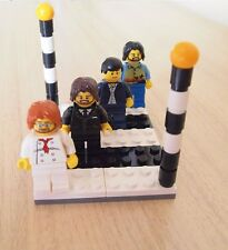 The Beatles Minifigures Abbey Road Zebra Crossing Custom Sets from LEGO Parts