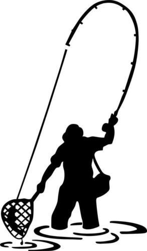 Pêche à la mouche pêcheur je vinyl decal//autocollant lignes//leurres//pêche à la ligne decal