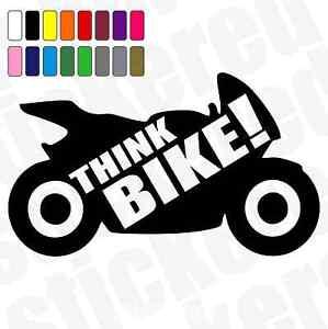THINK-BIKE-WINDOW-MOTORBIKE-CAR-WARNING-SAFETY-STICKER-DECAL-170mm-x-100mm