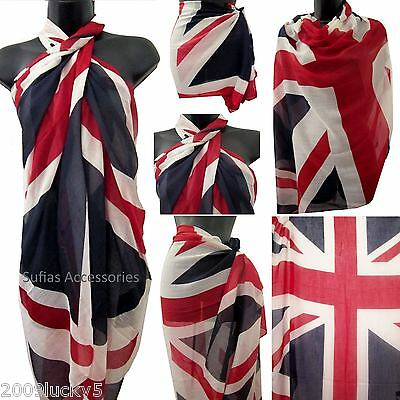 Ausdauernd Union Jack British Flag Sarong Beach Cover-up Scarf Wrap Kaftan Uk English 188 Hohe Belastbarkeit