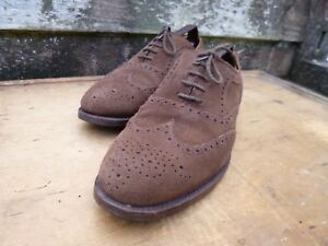 f74d903f04b65 CHEANEY / CHURCH BROGUES – BROWN SUEDE – UK 8 – GROSVENOR –EXCELLENT ...