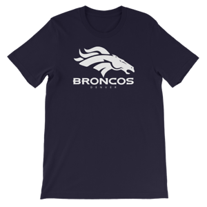 Denver-Broncos-T-Shirt-WHITE-LOGO-Graphic-Cotton-Adult-Unisex-tee-Small-2XLarge