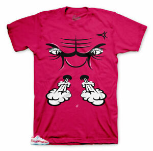 910e6793dcf9 Image is loading Shirt-Match-Jordan-11-Pink-Snakeskin-Watermelon-Bull-
