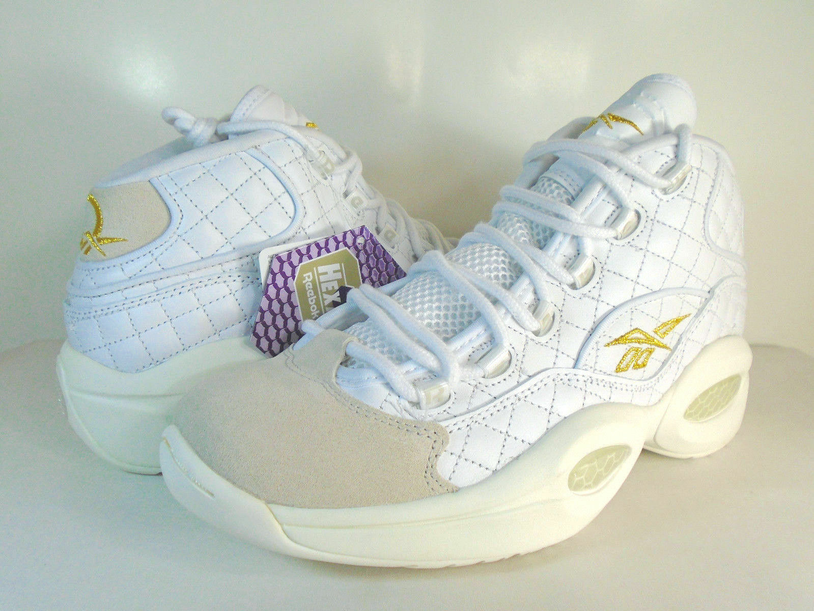 MENS REEBOK QUESTION MID White/Party -AR1710- Allen Iverson BASKETBALL