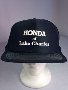 Image Is Loading Vintage Honda Of Lake Charles Black Baseball Trucker