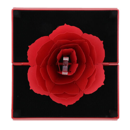 Romantic Rotating Jewelry Gift Box Ring Holder Surprise Box for Fiancee Wife