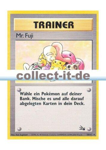 Mr fuji-illimitées allemand POKEMON FOSSIL-illimitées 58//62