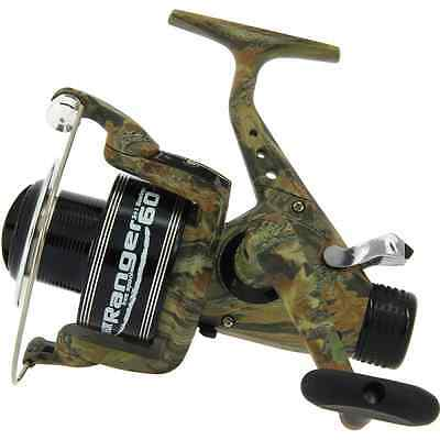 New Carp Fishing Camo Lineaeffe Ranger 60 Free Runner Reel Line + Spare Spool