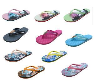on sale 645fa 74e07 Details zu Damen Bade Flips Sandalen Schuhe Strand Badeschuhe Flamingo  Zehentrenner 36-42