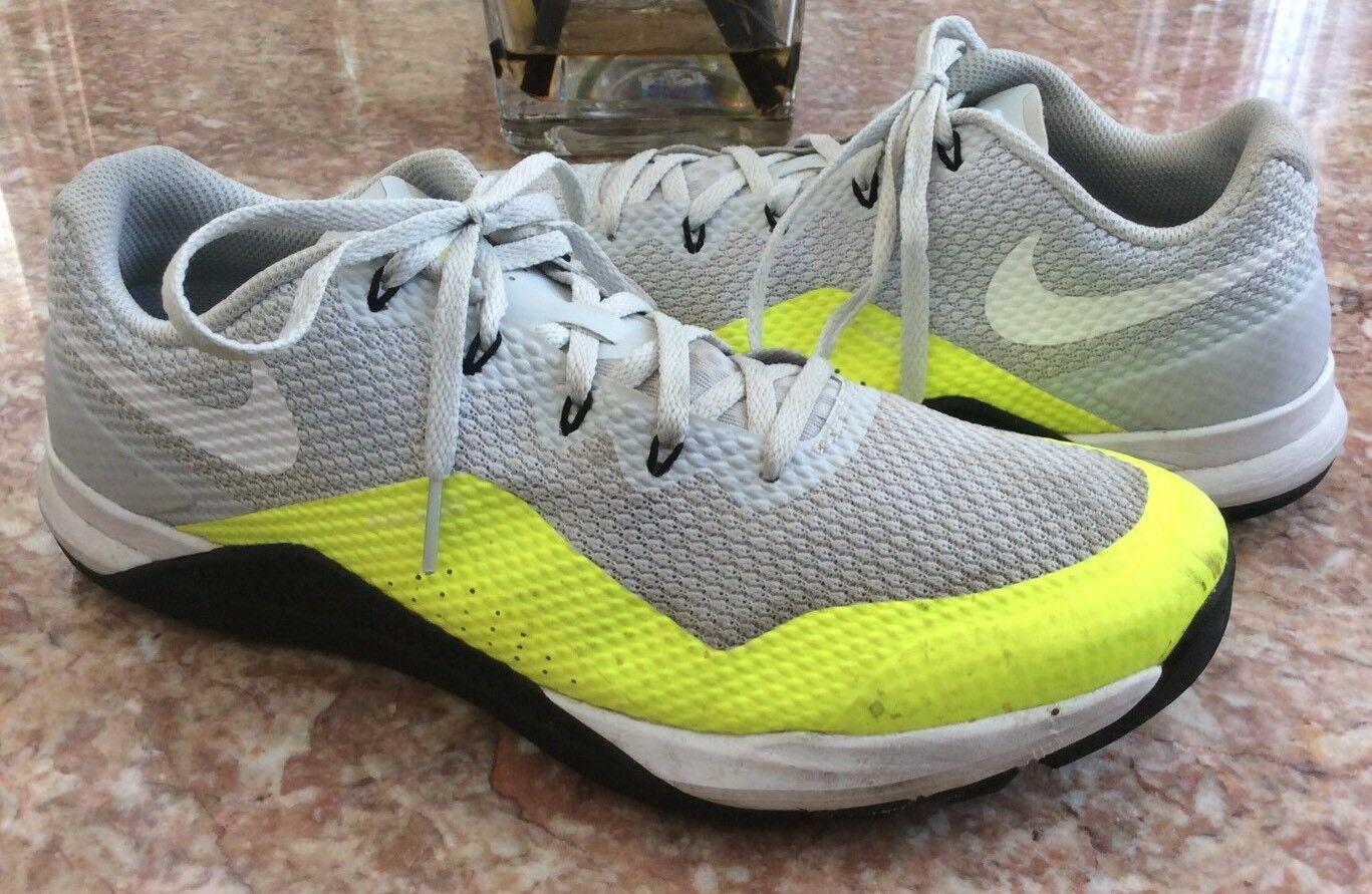 Nike Metcon Repper DSX Men's Platinum-White Volt Training Size 10.5  898048-001