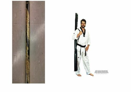 """Lightweight Competition Dragon Bo Staff Martial Arts Weapon 60/"""" w//Carry Case 70/"""""""