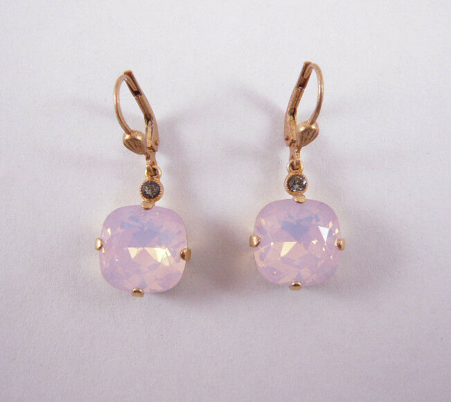 Catherine Popesco 14K gold Plated Large pinkwater Swarovski Crystals Earrings