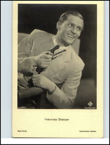 Echtfoto-AK-Kino-Film-Buehne-Theater-Schauspieler-Actor-Ufa-HANNES-STELZER-Photo