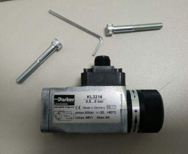 Parker KL3214 Druckschalter  P/E Wandler 0,5 bis 8 Bar G1/4-8P-M12 Beckhoff