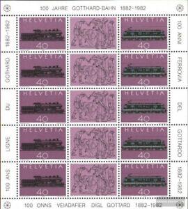 Schweiz-1214-1215-Kleinbogen-kompl-Ausg-postfrisch-1982-Gotthard-Bahn