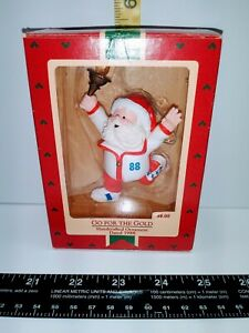 "Hallmark 1988 Keepsake Tree Ornament ""Go For The Gold"" Santa Claus"