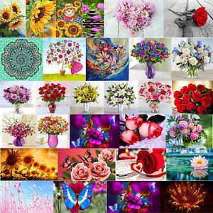 Blumen 5D Diamant Painting Kreuzstich Stickerei Malerei Bilder Stickpackung