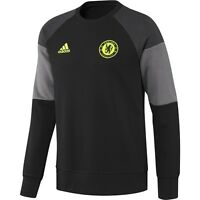 Adidas Chelsea 2016 - 2017 Core Sweat Top Black / Grey / Charcoal