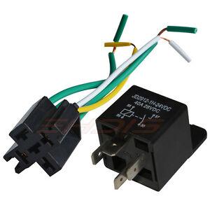 5pcs DC 12V//24V 40A 4 Terminals Relay Socket Harness Connector for Auto Car