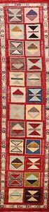 Geometric Tribal Gabbeh Kashkoli Oriental Runner Rug Hand-knotted 3'x12' Carpet