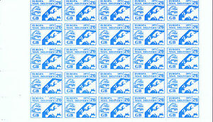 1971-STRIKE-MAIL-EUROPA-MAIL-SERVICE-2-6d-TRAIN-amp-MAP-PART-SHEET-OF-25-MNH