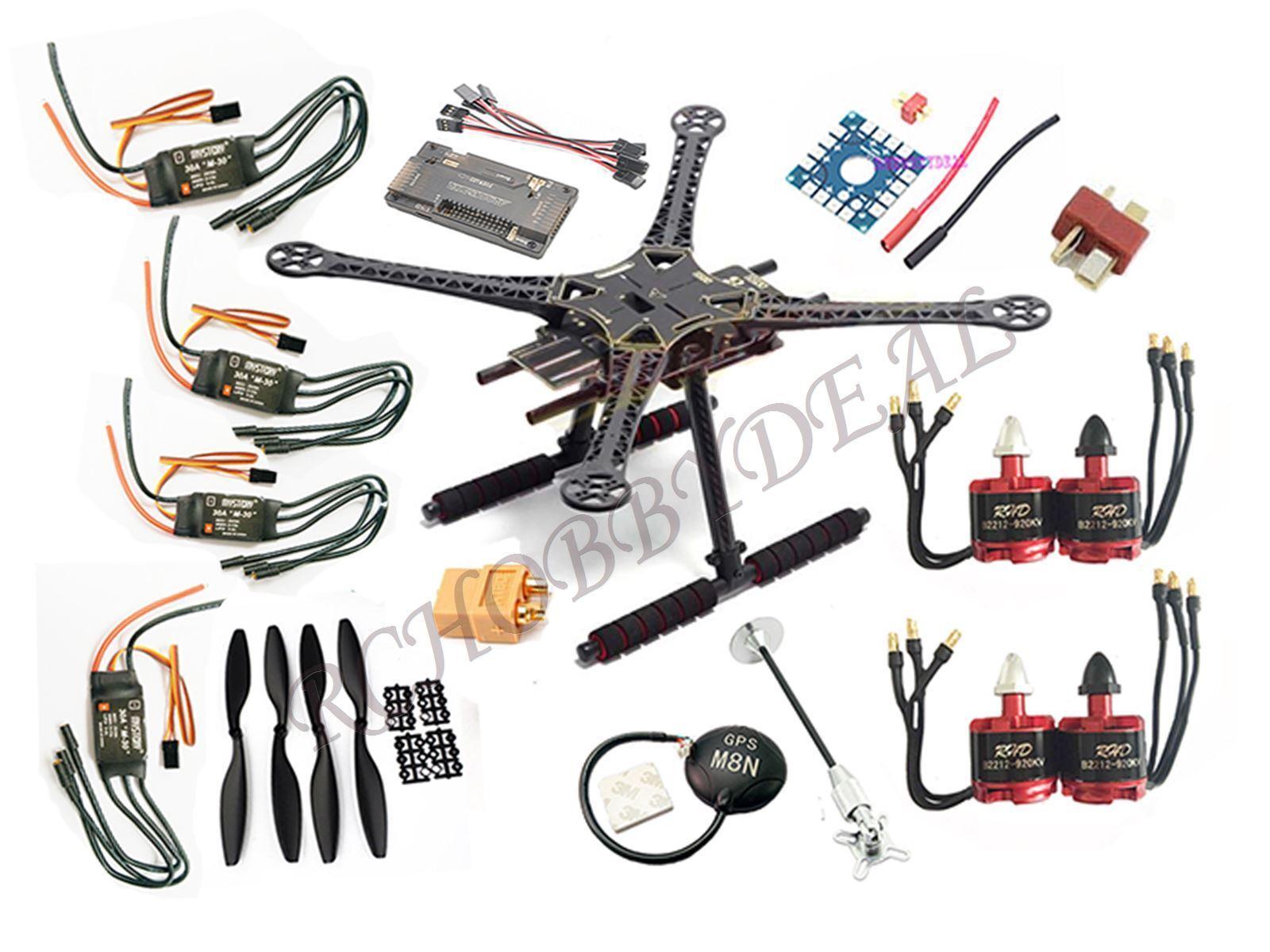 DIY s500  Quadcopter apm2.8 neo-m8n GPS b2212 920kv MOTORE cw&ccw SimonK 30a ESC  risposte rapide
