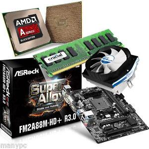 Computer-PC-Aufruestkit-AMD-X2-A4-4020-2x3-2GHz-8GB-DDR3-FM2A88M-HD-Alpine-Plus