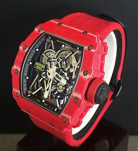 Richard Mille Rm35 02 Red Quartz Tpt Rafael Nadal Brand New Ebay
