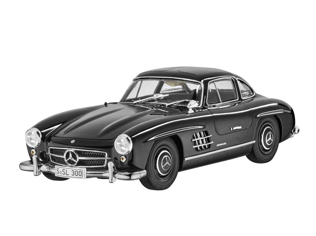 Orig. Mercedes-Benz voiture miniature 300 SL coupé w198 1954-1963 noir 1 18 Oldtimer