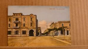 Postcard-Unposted-Egypt-Port-Said-Rue-de-la-poste