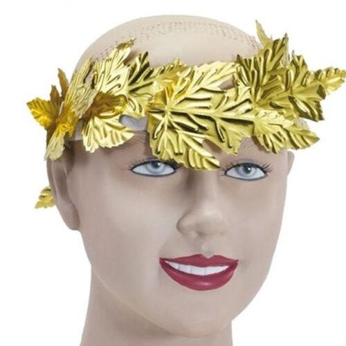 Laurel Leaf Wreath Headband Greek Goddess Toga Fancy Dress Costume Gold