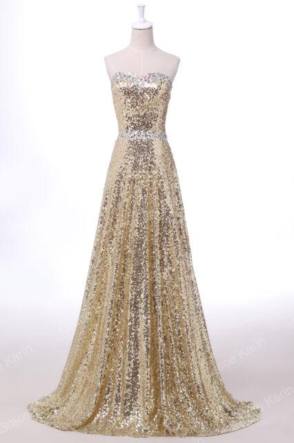 GRACE KARIN Pailettenkleid Ballkleid Abendkleid Lang Brautjungfern Partykleid 1