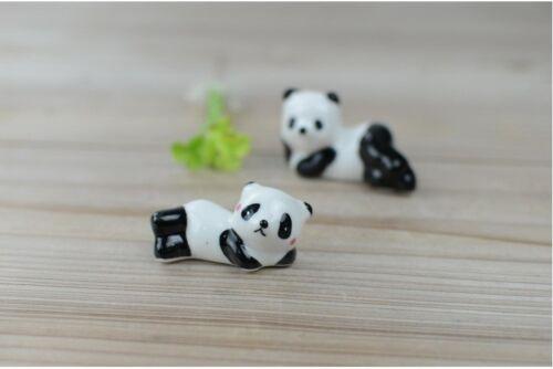 Set 8 pcs Ceramic Chopsticks Stand Holder Panda Pillow Decor Cute Ornament Gift