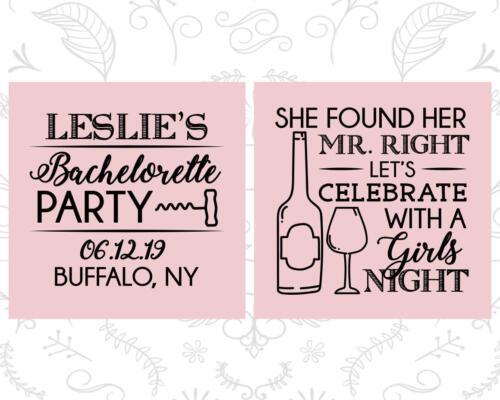 Bachelorette Party Koozies Koozie Favors Mr Right Girls Night 60180