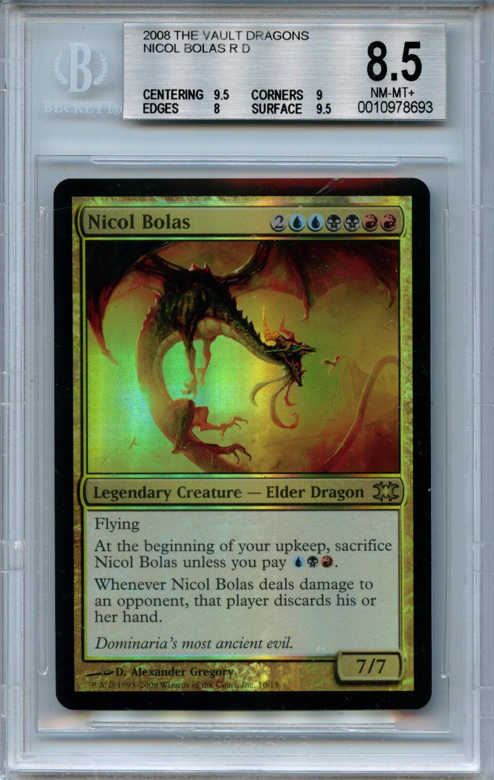 MTG Nicol Bolas BGS 8.5 NM  MT FTV drakes magi Foil Amricons 8693
