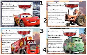 carte invitation anniversaire cars pixar - Anniversaire Cars
