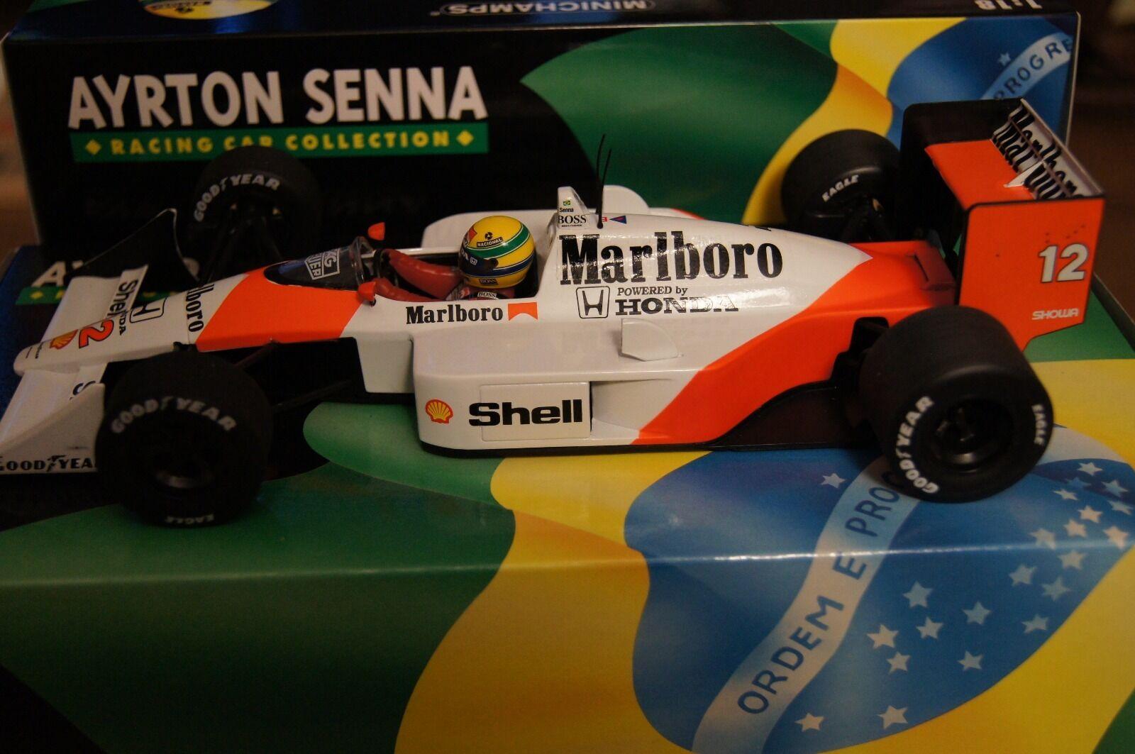 Ayrton Senna Minichamps Mp4 4 Marlbgold Mclaren full detail