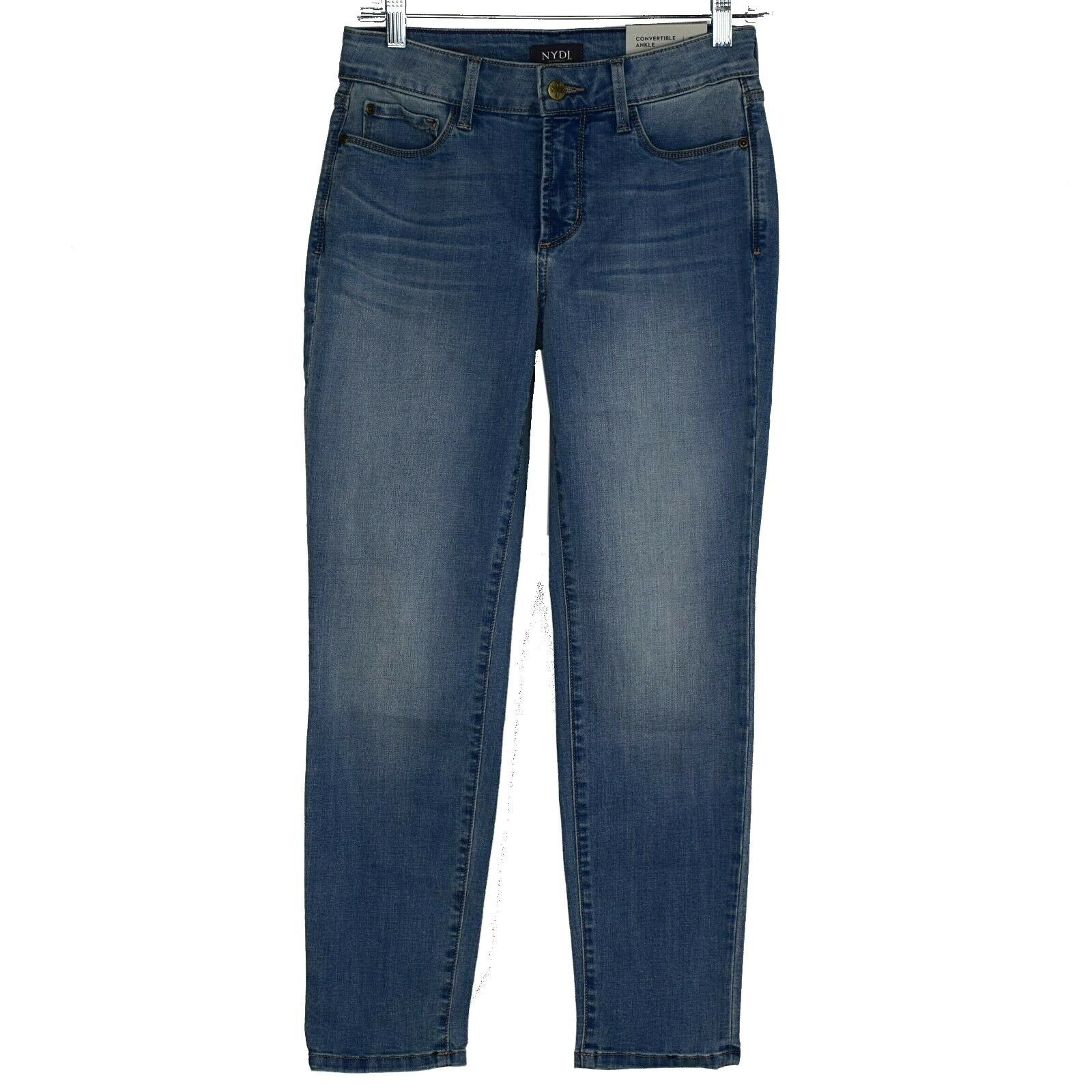 NYDJ Womens Petite Alina Skinny Congreenible Ankle Jeans Size 2P Light Wash NWT